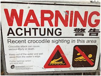 [photo: Crocodile Warning]