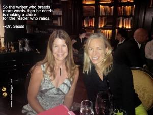 Susan Wiggs and her editor Margaret Marbury