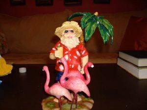Santa and Flamingo