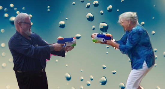 [photo: water fight]