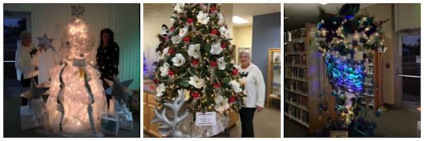 [Carolyn and Christmas trees]
