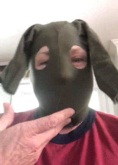 [photo: Panty Hose Mask]