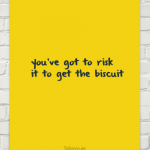 You Gotta Risk it to Get the Biscuit