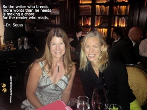 Susan Wiggs and her editor Margaret Marbury