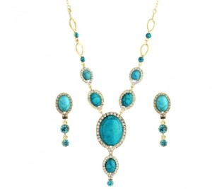 Egyptian Blue Nile Turquoise Necklace Set