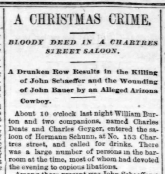 Short Christmas Stories.Killer Ideas For An 1889 New Orleans Christmas Story
